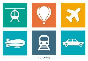 Coleção de ícones de transporte