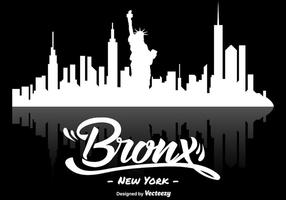 Vector The Bronx New York Skyline