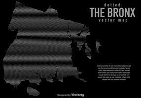 Bronx Vector Halftone Map