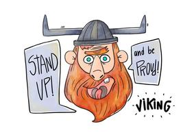 Cartoon Charakter Viking Vektor