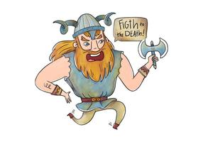 Wikinger Charakter mit Zitat Vektor