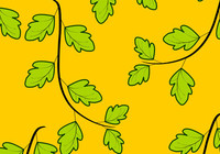 Leaves on Yellow Background Vector