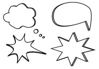 Text and Speech Bubble Vectors