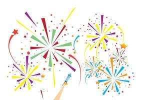 Fireworks-white-background-vector