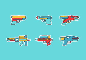 Watergun Gratis Vector Pack