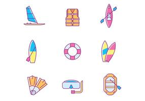 Water Sports Icons vector