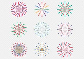 Celebración de la exhibición de fuegos artificiales vector