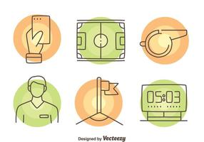 Vector illustratie van de Umpire Element Icons