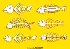 Hand Drawn Fishbone Collection Vector
