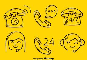 Sketch Call Center Element Vector