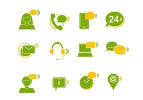 Iconos del vector de centro de llamadas