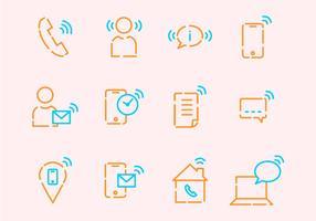 Icônes vectorielles du centre d'appels