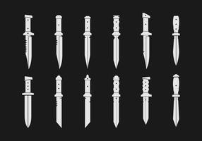 Ícones de vetor de baionetas
