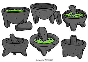 Vector Collection Of Mexican Molcajete Illustrations