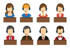Vetores do operador de call center