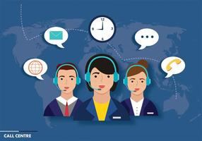 Call Centre Vector Design