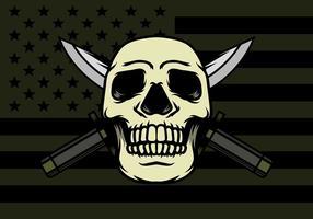 Cranio con sfondo a baionetta
