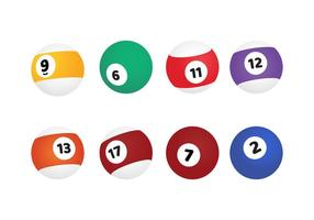 Billiard Balls Vector Set
