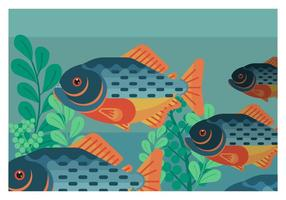 Piranha flache geometrische Vektor-Illustration