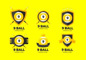9 ball logo free vector