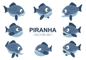 piranha tecknad vektor