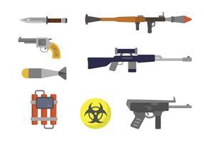 Vectores planos de armas