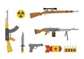 Flache Waffenvektoren