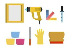 Flat Screen Printing Tool Vectors