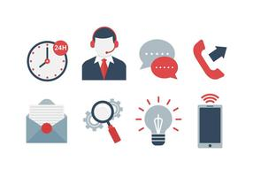 Gratis Call Center Vector Pictogrammen