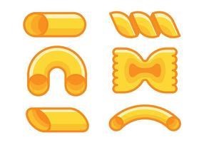 Ícones de vetores de macarrão