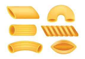 Iconos del vector de los macarrones