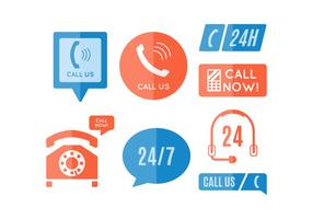 Gratis Iconische Call Center Vectors