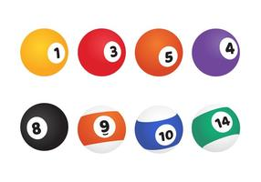 Billiard Ball Vector Pack