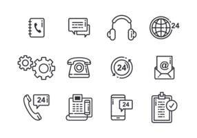 Call Center Pictogrammen Vector