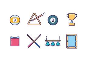 Pool Icons Vector Set