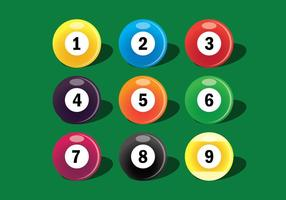 9 ball icons set