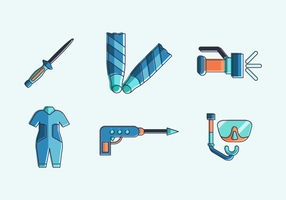 spearfishing gratis vector pakket