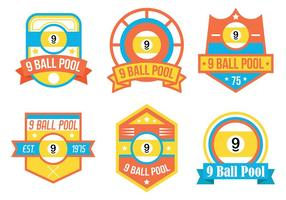 9 Ball Vector Badges
