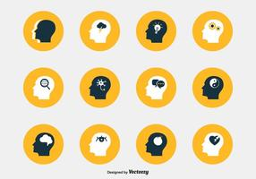 Psychology Head Vector Icons