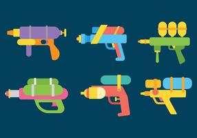 Watergun Vector Icons