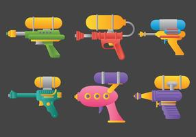 Iconos del vector del watergun