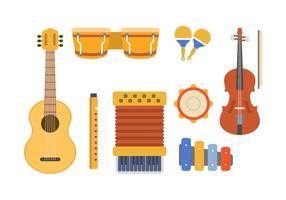 Vettori di strumenti musicali piatti