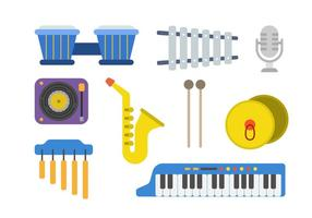 Vecteurs d'instruments à musique plate