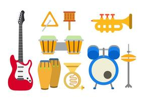Vetores de instrumento de música plana