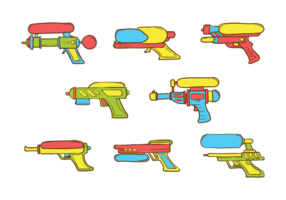 Watergun Icons Vector