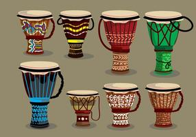 Etnisk Djembe Illustration