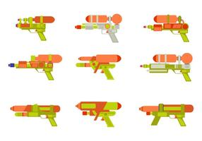 Watergun Flat vektor