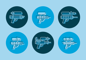 Watergun Outline Vector