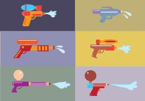 Watergun cartoon vectoren