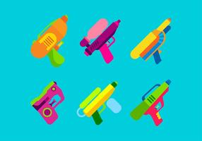 Watergun Set Free Vector